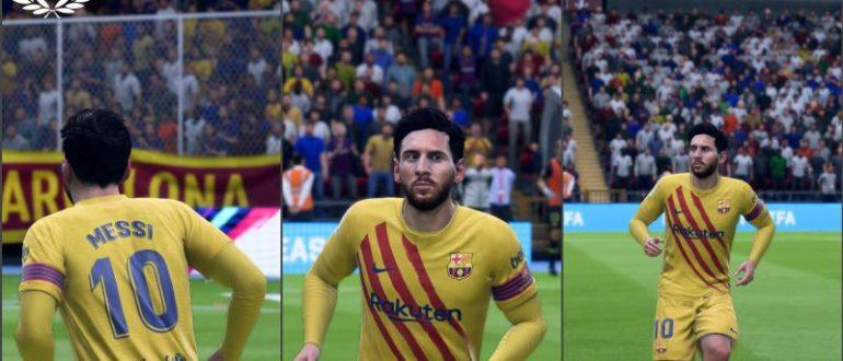 Выездная форма  Барселоны для FIFA 20