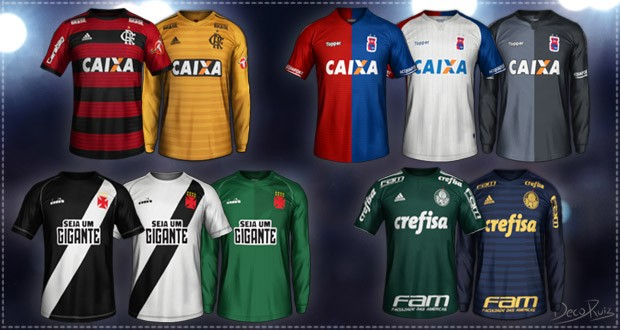 Brazilian teams kitpack